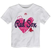 Toddler Majestic Boston Red Sox Heart Tee