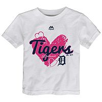 Toddler Majestic Detroit Tigers Heart Tee