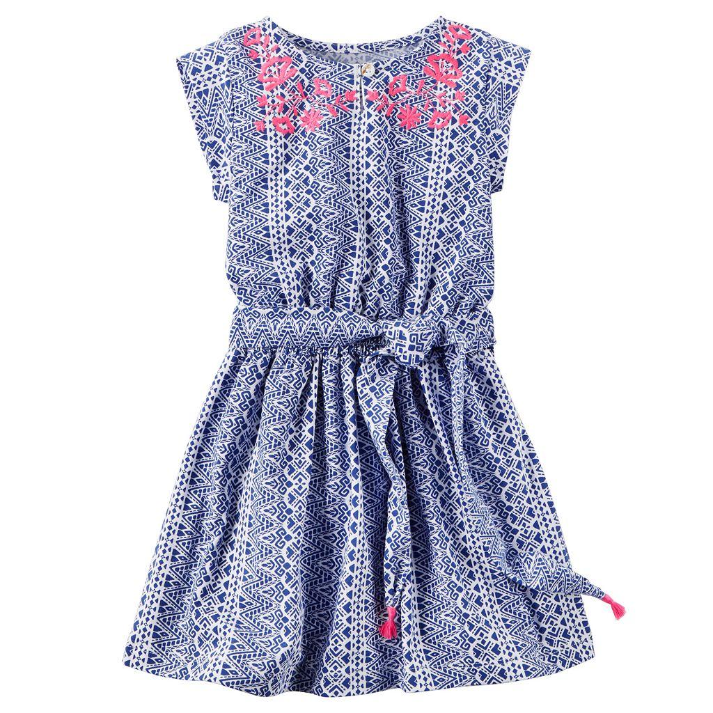 Toddler Girl Carter's Embroidered Tribal Dress