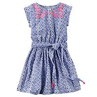 Toddler Girl Carter's Embroidered Tribal Dress