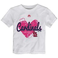 Toddler Majestic St. Louis Cardinals Heart Tee