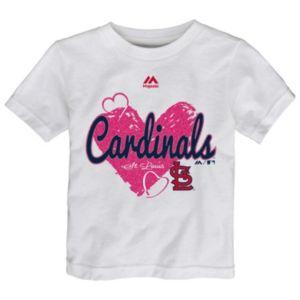 Toddler Majestic St. Louis Cardinals Heart Tee