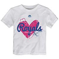 Toddler Majestic Kansas City Royals Heart Tee