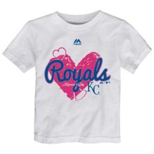 Toddler Majestic Kansas City Royals Heart Tee