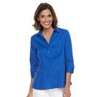 Women's Dana Buchman Pleated Peplum Shirt