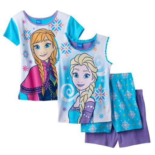 Disney's Frozen Anna & Elsa Girls 4-10 Pajama Set