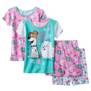 Girls 4-10 DreamWorks The Secret Life of Pets Gidget & Max Pajama Set