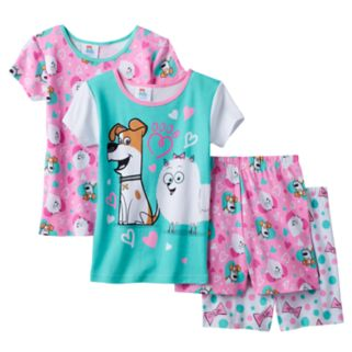 Girls 4-10 DreamWorks The Secret Life of Pets Gidget & Max Pajama Set
