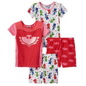 Girls 4-8 PJ Masks Owlette Tees & Shorts Pajama Set