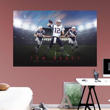 New England Patriots Tom Brady Montage Mural Wall Decal by Fathead