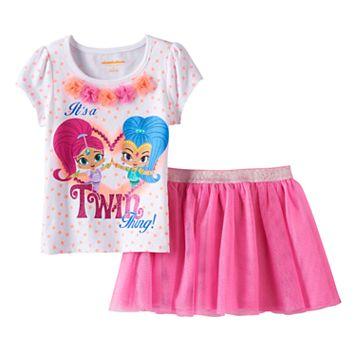 Toddler Girl Shimmer & Shine Top & Glitter Skort Set