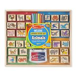 Melissa & Doug Deluxe Animals Wooden Stamp Set