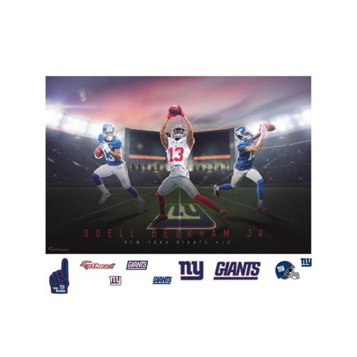 New York Giants Odell Beckham Jr. Montage Mural Wall Decal by Fathead