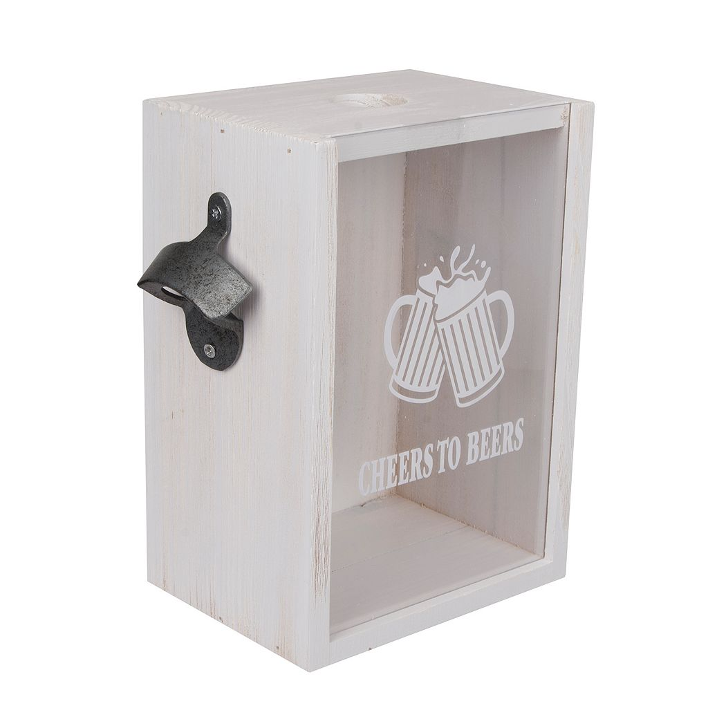 Wembley Bottle Cap Bank with Bottle Opener