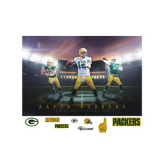 Green Bay Packers Aaron Rodgers Montage Mural Wall Decal by Fathead