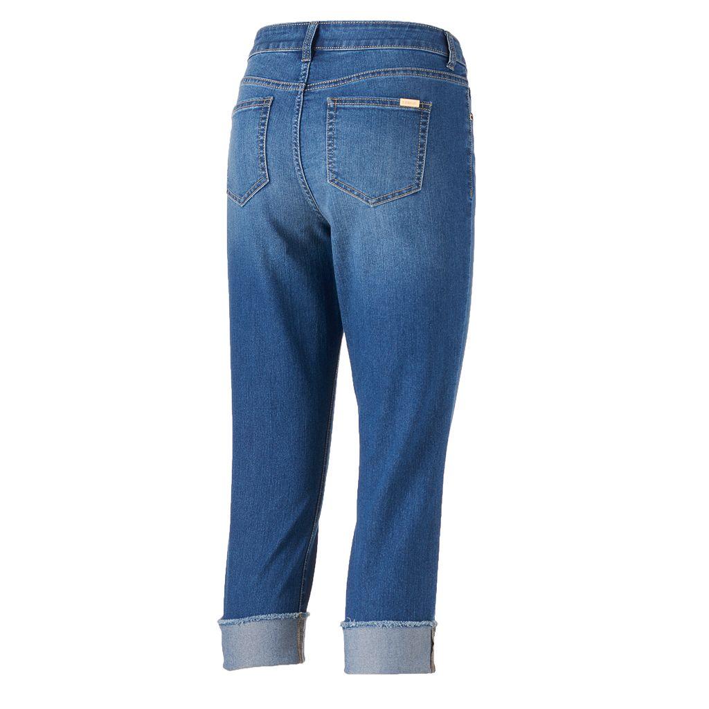Women's Jennifer Lopez Cuffed Capri Jeans