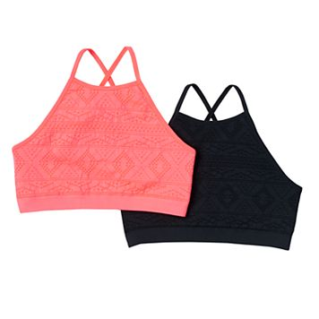 Girls 7-16 SO® 2-pk. Seamless High Neck Bras