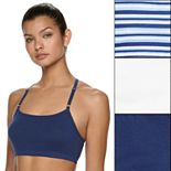 Women's Fruit of the Loom® Signature 3-pack Strappy Racerback Sports Bras 3DSCSCT