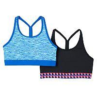 Girls 7-16 SO® 2-pk. Microfiber Sports Bras