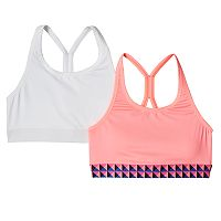 Girls 7-16 SO® 2-pk. Microfiber Sports Bras