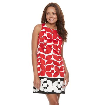 Petite Suite 7 Petal Sateen Shift Dress
