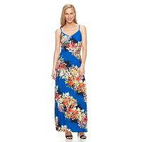 Petite Suite 7 Floral Striped Maxi Dress