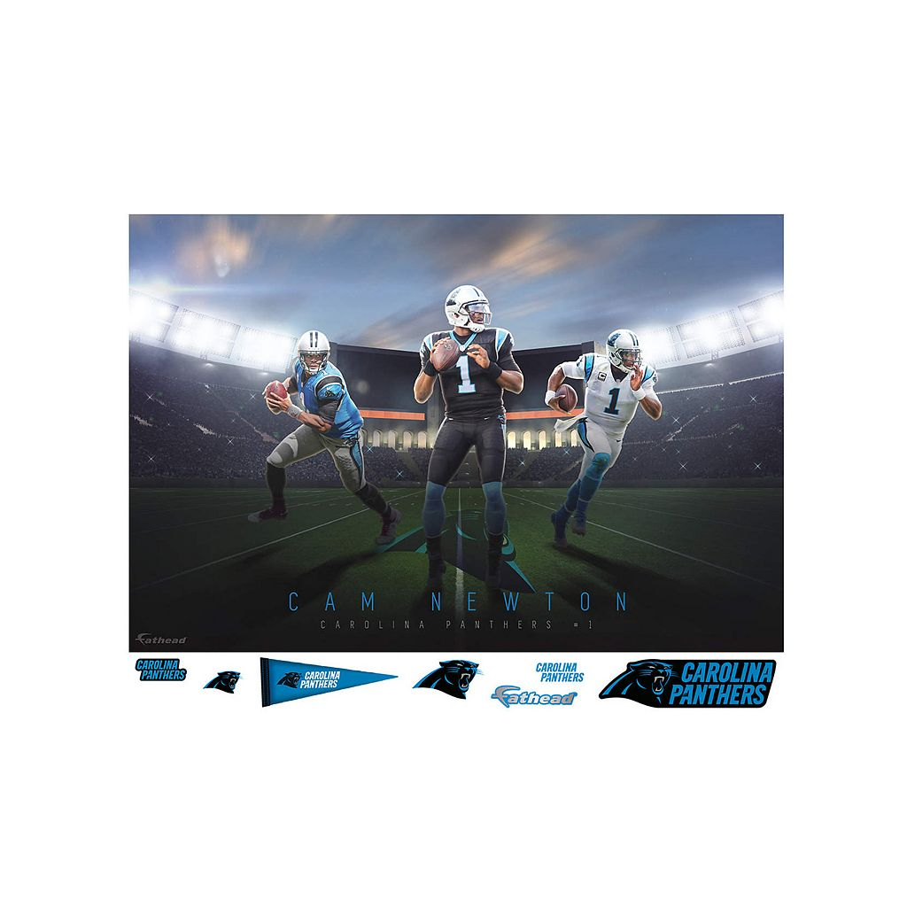 Carolina Panthers Cam Newton Montage Mural Wall Decal by Fathead