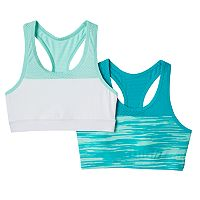 Girls 7-16 SO® 2-pk. Colorblock Microfiber Sports Bras