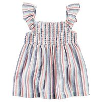 Toddler Girl Carter's Striped Smocked Tank Top