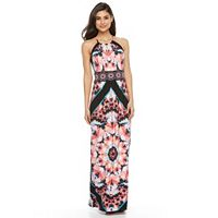 Petite Suite 7 Kaleidoscope Halter Maxi Dress