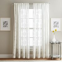 Peri Medallion Print Clip Sheer Window Curtain