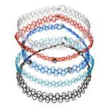 Mudd® Simulated Crystal Tattoo Choker Necklace Set