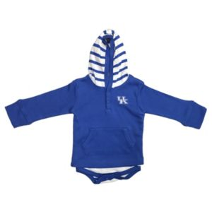 Baby Two Feet Ahead Kentucky Wildcats Hooded Bodysuit