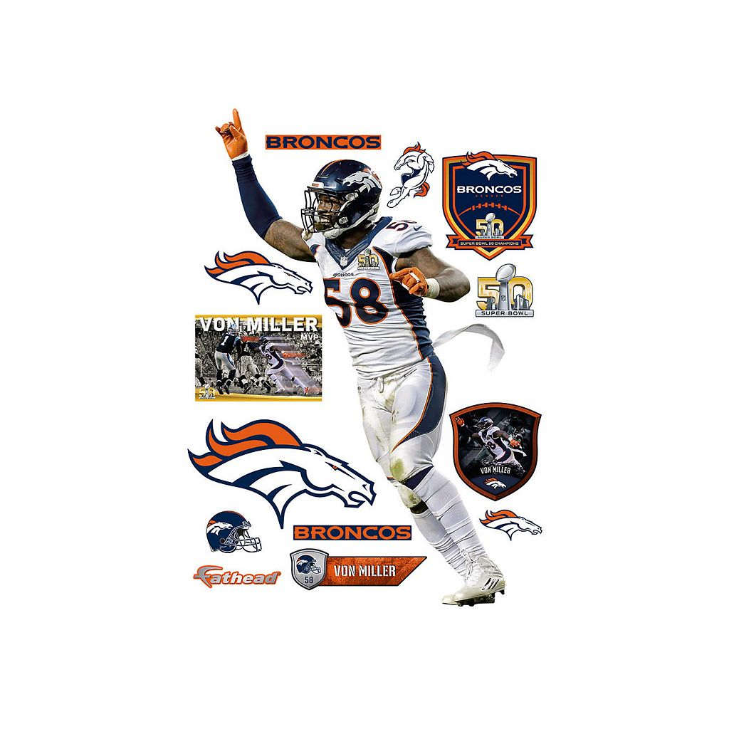 Denver Broncos Von Miller Super Bowl 50 MVP Wall Decal by Fathead
