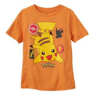 Boys 4-7 Pokémon Patch Pikachu Graphic Tee