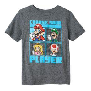 "Boys 4-7 Super Mario Bros. ""Choose Your Player"" Graphic Tee"