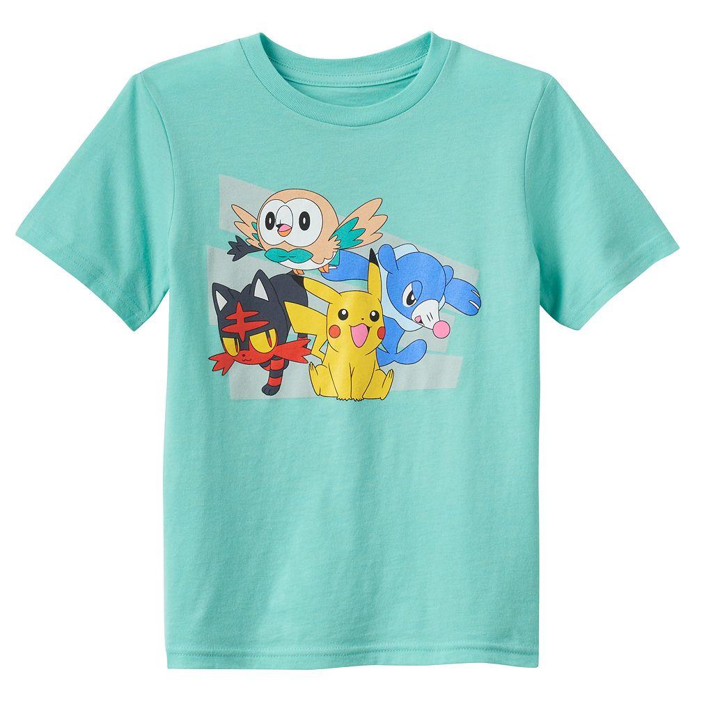 Boys 4-7 Pokemon Pikachu, Litten, Rowlet & Popplio Tee
