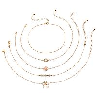 Mudd® Rosette & Wire Flower Choker Necklace Set