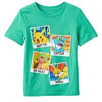 Boys 4-7 Pokemon Pikachu, Froakie, Chespin & Fennekin Tee