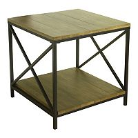 HomePop Rustic Contemporary End Table
