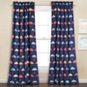 Half Moon 2-pack Umbrella Window Curtains