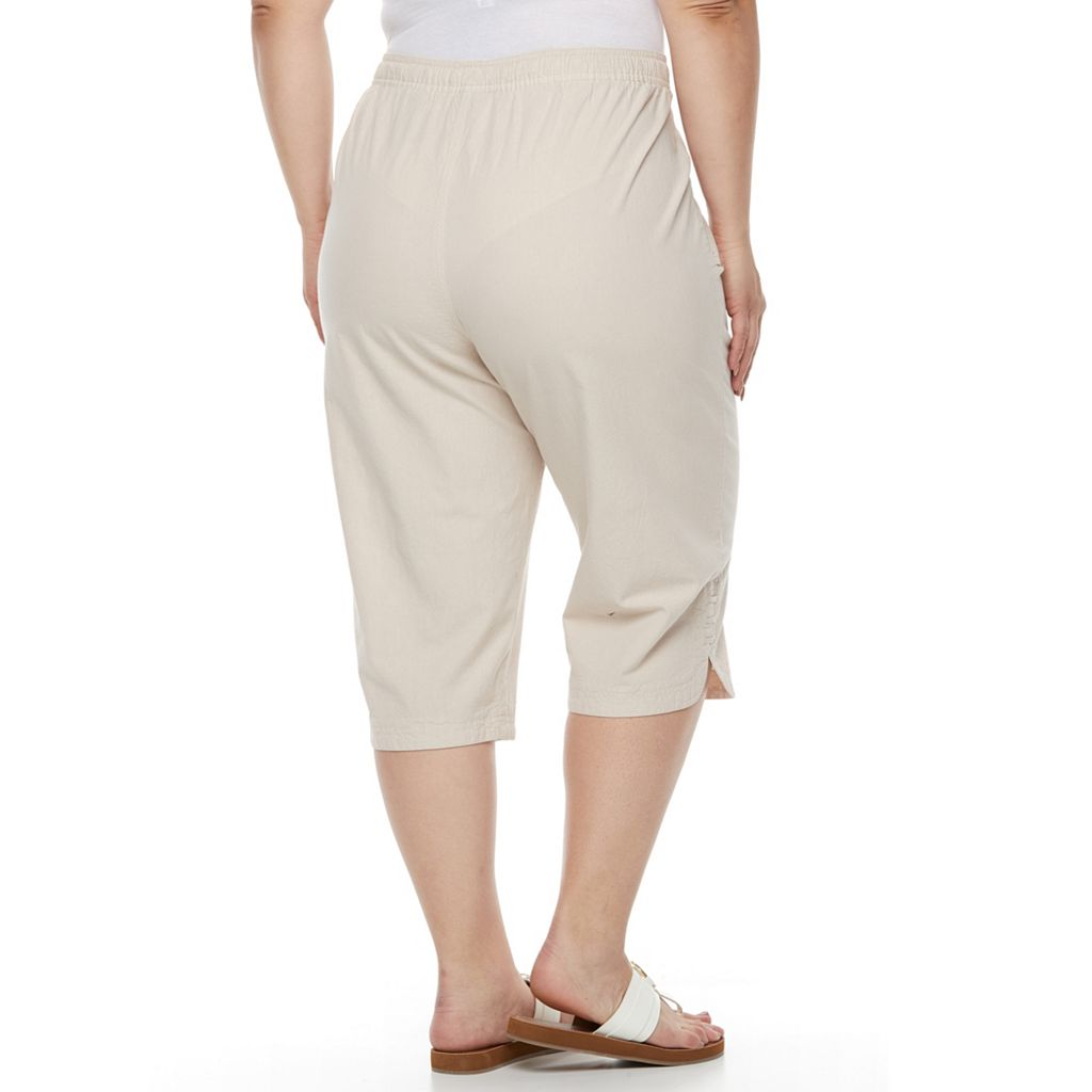 Plus Size Gloria Vanderbilt Kiera Sheeting Capris