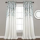 Half Moon 2-pack Weeping Flowers Window Curtains