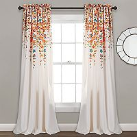 Half Moon 2-pack Weeping Flowers Window Curtain