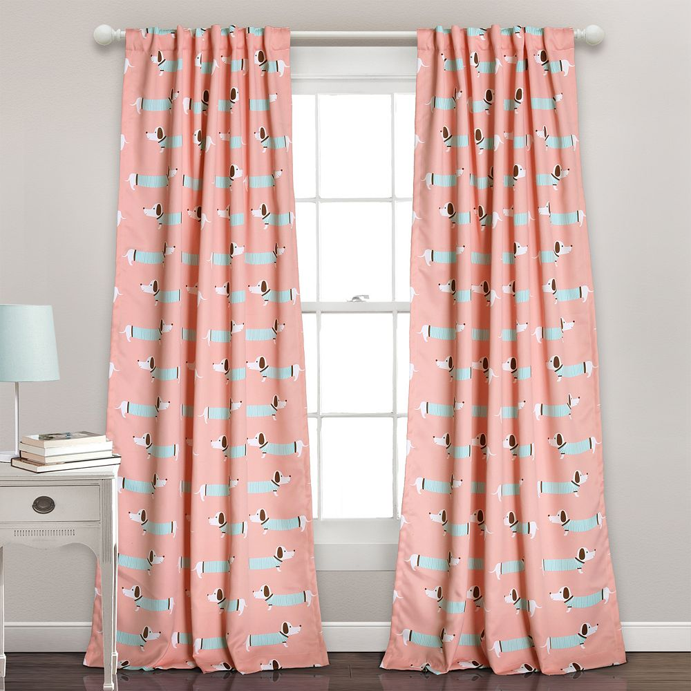 Half Moon 2 Pack Sausage Dog Window Curtains