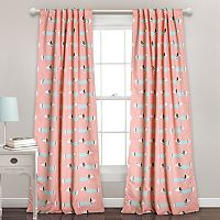 Half Moon 2-pack Sausage Dog Window Curtains