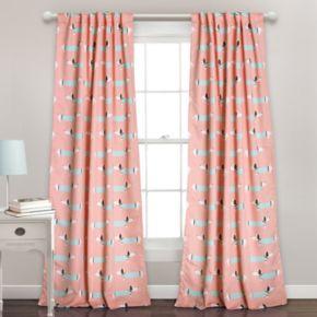 Half Moon 2-pack Sausage Dog Window Curtains