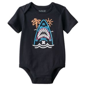 Baby Boy Hurley Neon Shark Graphic Bodysuit