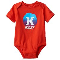 Baby Boy Hurley Circle Graphic Bodysuit