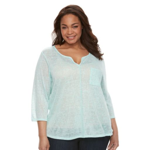 Plus Size Kate and Sam V-Neck Tee